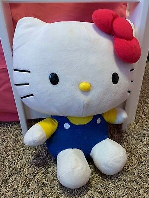 Hello Kitty Plush Sanrio 15 Inch Blue Yellow Clothes Pink Bow 2015 By Just Play