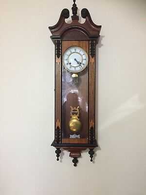 Vienna Regulator Wall Clock In Walnut Case