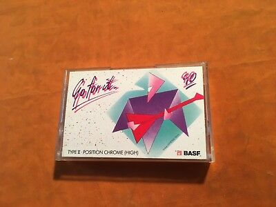 1 x BASF Go for it 90 Cassette,IEC II/High Pos,sehr guter Zustand,very rare,1989