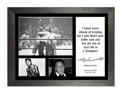 Muhammad Ali 2 Famous Quote Boxing Legend Signed A3 A4 Poster