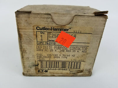 Cutler Hammer C25DND325A Definite Purpose Contactor 25 Amp New Old Stock