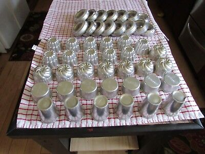 ALUMINUM MOLDs LOT 47 PIECES WEST BEND USA CUPS CRAFTS COOKING CANDLE MAKING