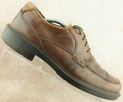 b12ee2a7be4be Ecco Brown Leather Apron Toe Casual Oxfords Shoes Men's Size 44 / 10 - 10.5