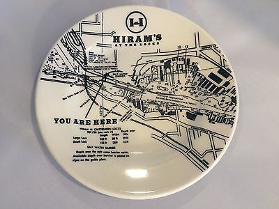 Homer Laughlin China Hiram's At The Locks You Are Here Plate