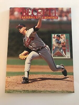 Steve Avery Beckett Book Cover May 1992 Is 86 Roberto Alomar On Back
