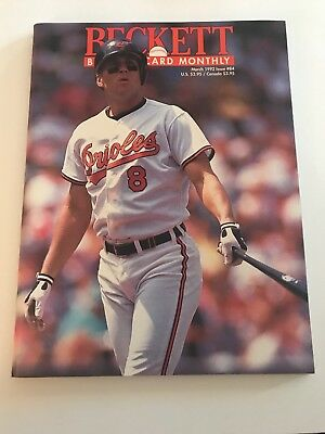 Cal Ripken Beckett Book Cover Magazine Phil Plantier On Back March 1992 Issue84
