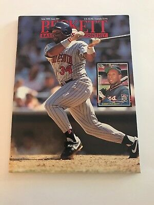 Kirby Puckett Beckett Book Cover Ruben Sierra On Back June 1992 Issue 87