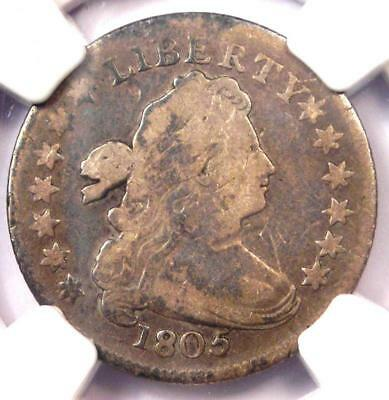 1805 Draped Bust Dime 10C JR-2 - Certified NGC Fine Details - Rare Coin!