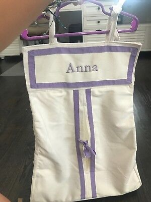"pottery barn Kids lavender Diaper Holder Stacker Nursery Baby ""Anna"""