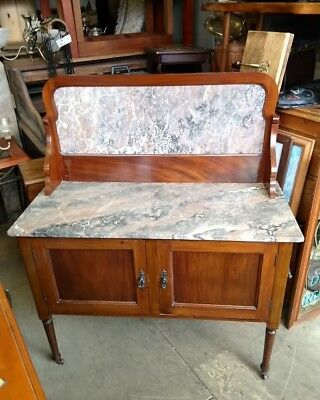 Edwardian marble topped wash stand