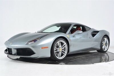 2016 Ferrari 488 GTB Certified CPO Carbon Fiber LED Full Electric Daytona Shields Cameras Sensors 20 Forged Stitch