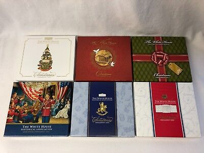 White House Historical Association Christmas Ornaments Lot of 6