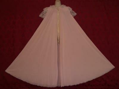 Exquisite Vtg Claire Sandra By Lucie Ann Pink Peignoir/robe/dressing Gown