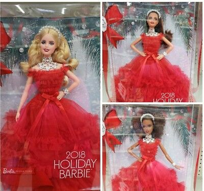LOT OF 3 30th Anniversary Holiday Barbie Dolls 2018 BRAND NEW IN BOXES