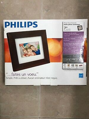 Philips 7DBRN Digital 7 Inch Photo Frame LCD 4:3 Screen Ratio Brown