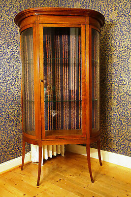 Antik Schrank massiv Jugendstil um 19 Jhd Buffet Glas Vitrine france antique