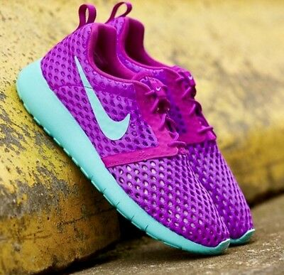 buy popular d7f2b 1f624 NEW NIKE ROSHE One Flight Weight Shoes, Purple, Youth Size 6/Women's Size  7.5