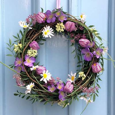 Fritillaria Mixed Spring Daisy Flowers Wreath New Spring Summer Collection 37cm