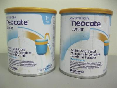 NUTRICIA Neocate Junior Unflavored Powder, 14.1 Oz / 400 G (2 Cans)