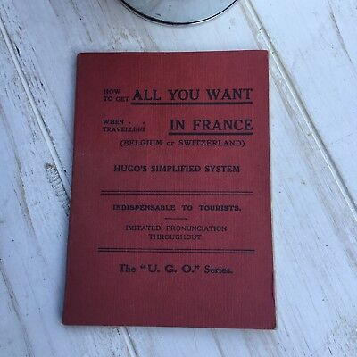 """Booklet All You Want In France Hugo's Simplified System """"U.G.O."""" series c.1950s"""