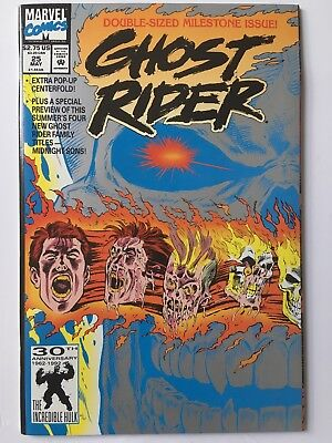 Marvel Comics - Ghost Rider - No 25 - May - Double-sized Milestone Issue!