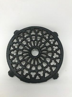 "Vintage cast Iron skillet or Pot trivet 4.5"" diameter Decorative Antique"