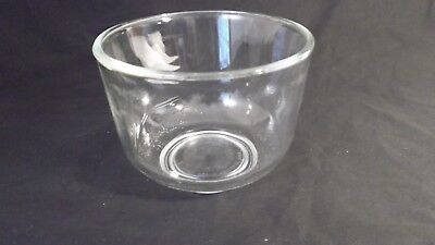 Vintage Oster Regency Kitchen Center Clear Glass Mixing Bowl
