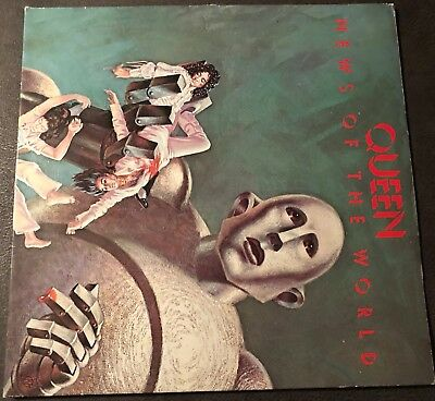 "Queen - News Of The World  12"" Vinyl LP Gatefold Cover 1977"