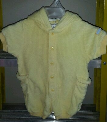 Carter's baby duck button up robe 0-3M