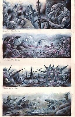 Vor The Maelstrom Fasa Alien Landscapes Original Art Clint Langley