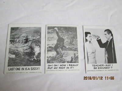 Spook Stories 1961 Leaf Brands Trading Cards lot of 3  #22,25,119