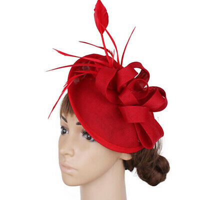 Women Feather Fascinators Pillbox Hat for Wedding Party Derby Royal Banquet