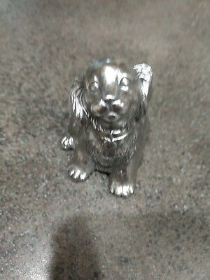 Reed & Barton Silverplate Puppy Dog Music Box... Lullaby and Goodnight