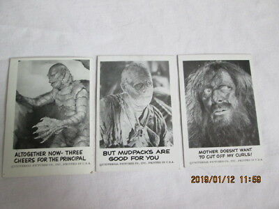 "Spook Stories 1961 Leaf Brands Trading Cards lot of 3  #61,65,70 #61 IS A ""TEST"""