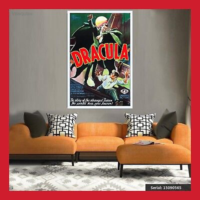 TOILE AFFICHE CINEMA MOVIE SORTIE FILM DRACULA 1931 POSTER PHOTO DVD 40x60 60x80