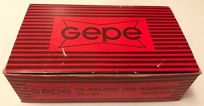 Box of 100 Vintage Gepe Glassless 35mm Photo Slide Mounts, New and Unused
