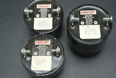 Set of 3 Mallory Sonalert Signaling/Alert Devices SC110Q(x2) and SC110NJ