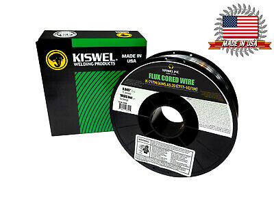 Kiswel E71T-1C/1M .045 in. Dia 10lb. Flux Cored Welding wire Made in USA