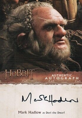 The Hobbit The Desolation Of Smaug, Mark Hadlow 'Dori' Autograph Card MH