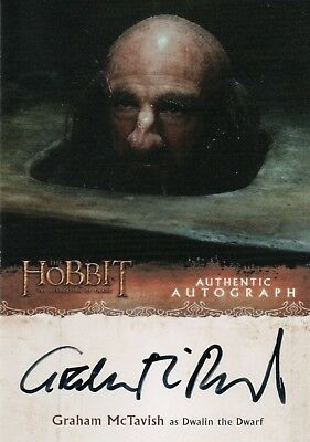 The Hobbit The Desolation Of Smaug, Graham McTavish 'Dwalin' Autograph Card GM