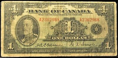 1935 Bank of Canada $1 Note. ITEM B29