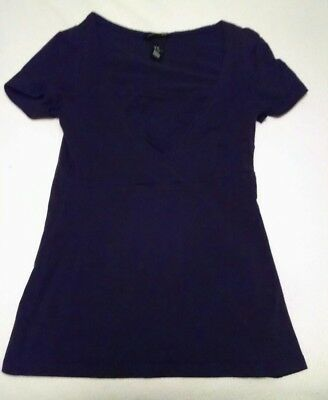 H&M Mama Nursing Shirt - Navy Blue - size XS