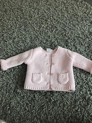 Mini Club Boots Baby Girl Pink Knitted Cardigan 0-3 Months