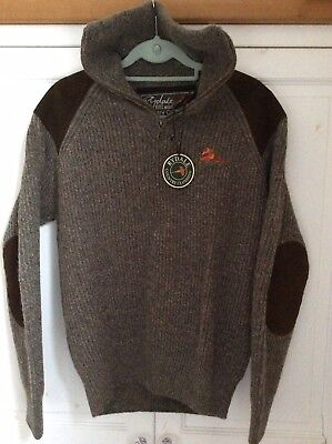 Rydale Mens's Wool 1/2 Neck Shooting Sweater Small