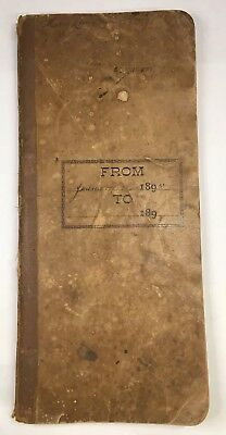 Antique Accounting Book - Assets Liabilities Ap Wilkes Forestville Ny 1895-1901