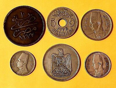 Egypt 5 assorted coins lot