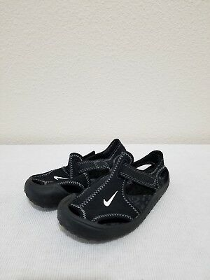 ae3e7acef02 NIKE SUNRAY PROTECT PS Sandals Shoes 344926-011 Black Toddler Kids ...