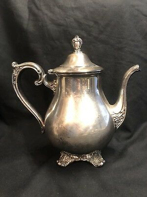 William Rogers & Son, 1902 Victoria Rose Silver Plated Tea Pot