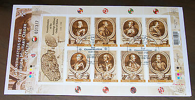 Maltapost Stamps Grandmasters of the Sovereign Military Order of Malta 1530-1798