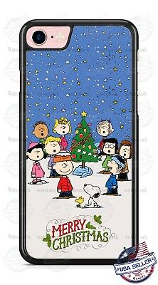 Charlie Brown Merry Christmas Tree Xmas Phone Case Cover for iPhone Xs Max etc.